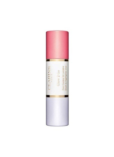 Clarins Glow 2 Go Blush & Highlighter Duo 01 Glowy Pink Renkli